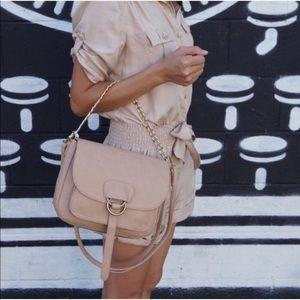 Handbags - Beige Crossbody Chain Hand Bag